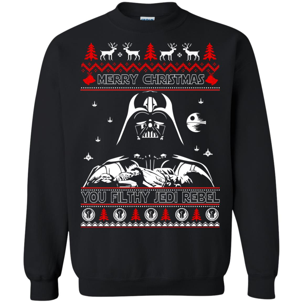 image 1788 - Darth Vader Merry Christmas You Filthy Jedi Rebel Ugly Sweater, Shirt