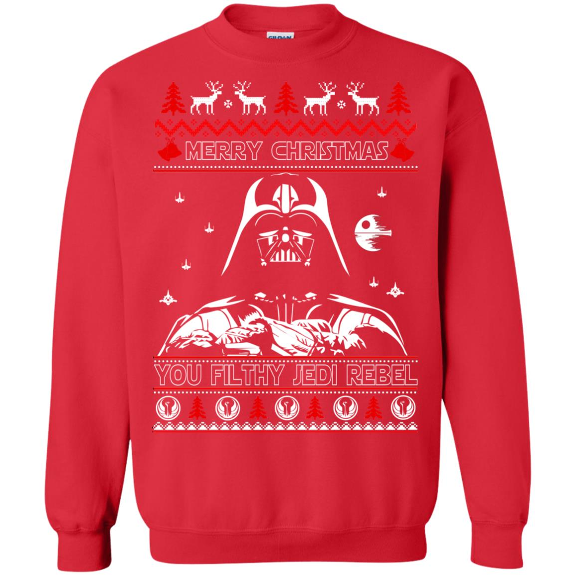 image 1790 - Darth Vader Merry Christmas You Filthy Jedi Rebel Ugly Sweater, Shirt