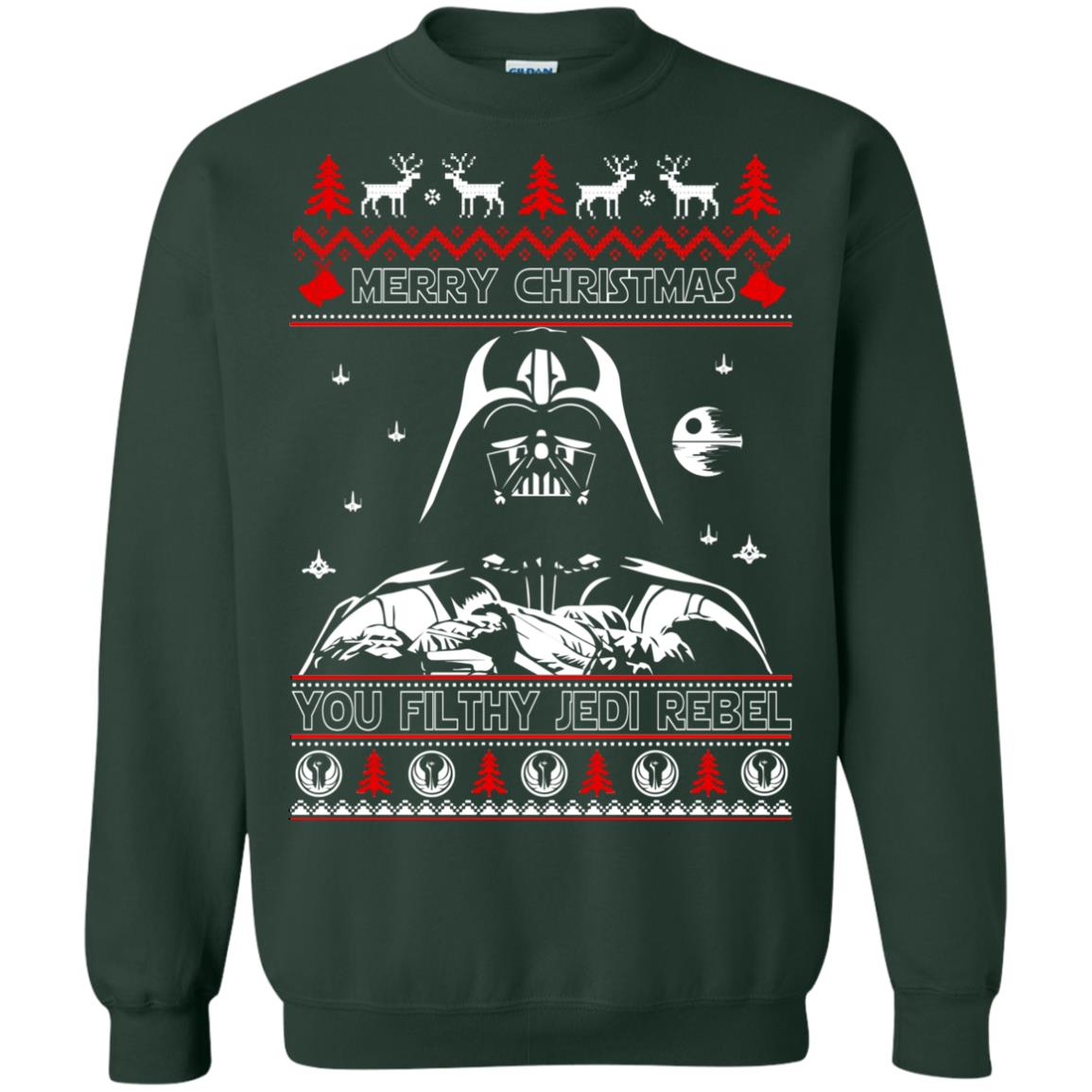 image 1791 - Darth Vader Merry Christmas You Filthy Jedi Rebel Ugly Sweater, Shirt