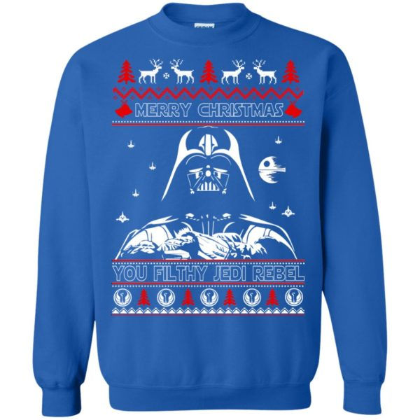 image 1792 600x600 - Darth Vader Merry Christmas You Filthy Jedi Rebel Ugly Sweater, Shirt