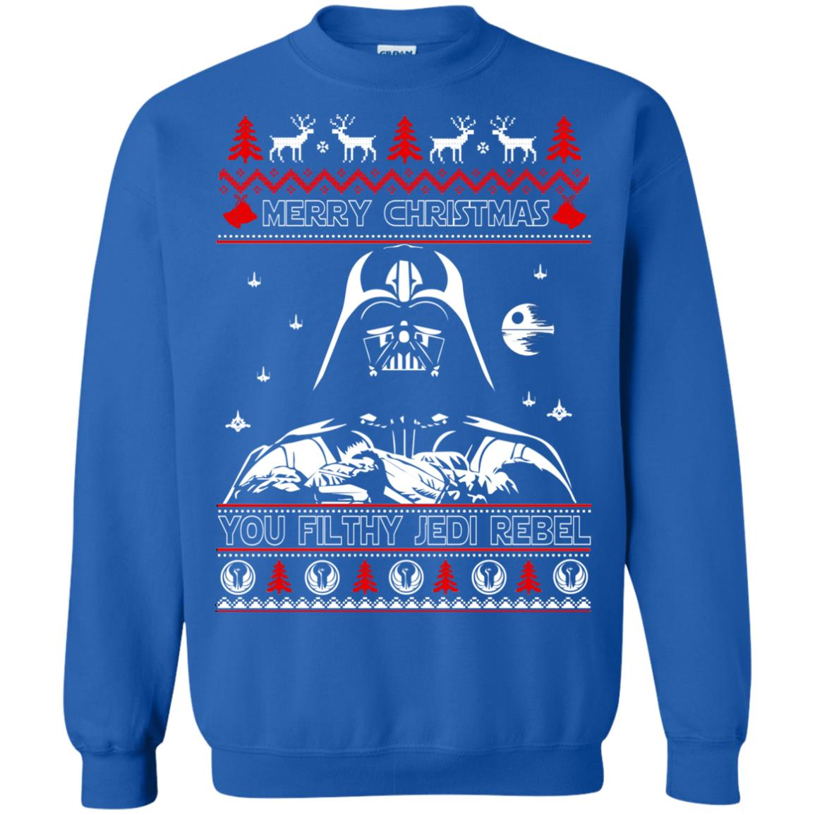 image 1792 - Darth Vader Merry Christmas You Filthy Jedi Rebel Ugly Sweater, Shirt