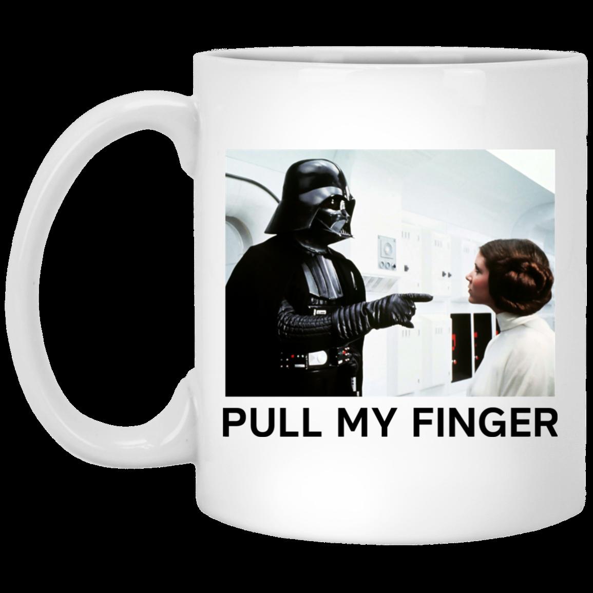 image 18 - Vader & Leia pull my finger Star Wars mug