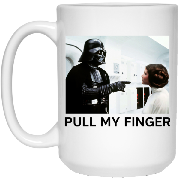 image 19 600x600 - Vader & Leia pull my finger Star Wars mug