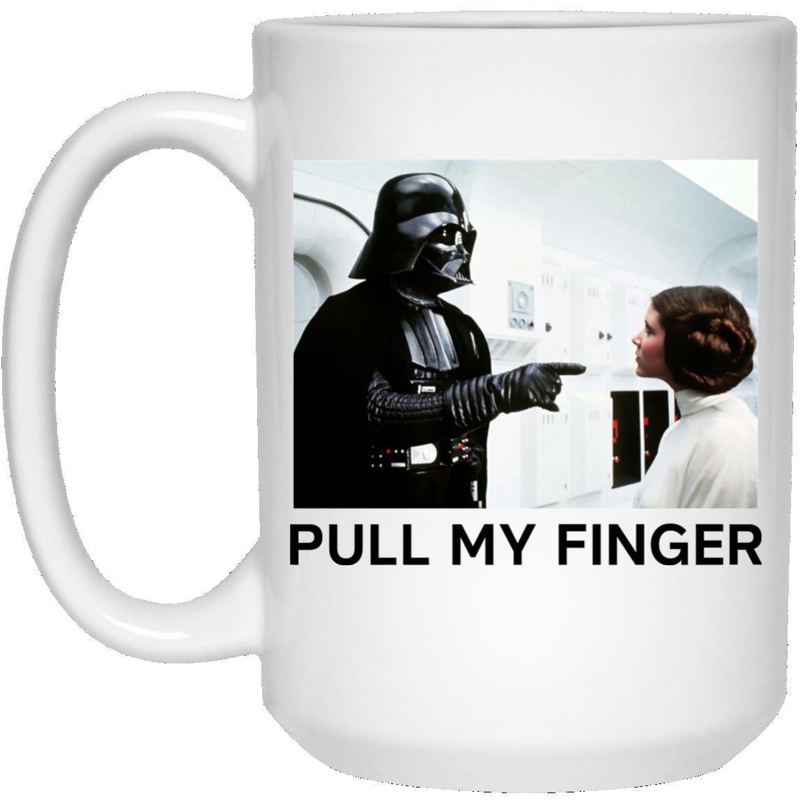 image 19 - Vader & Leia pull my finger Star Wars mug