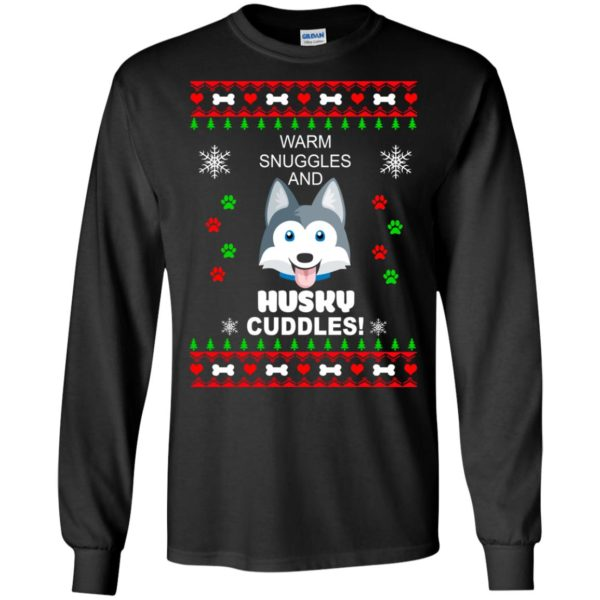 image 1939 600x600 - Warm snuggles and Husky cuddles Christmas sweater