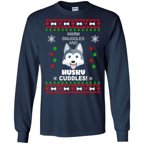 image 1940 600x600 - Warm snuggles and Husky cuddles Christmas sweater