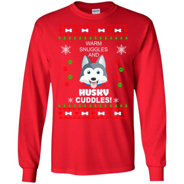 image 1941 600x600 - Warm snuggles and Husky cuddles Christmas sweater