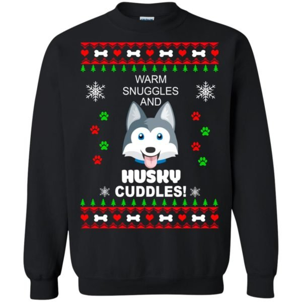 image 1945 600x600 - Warm snuggles and Husky cuddles Christmas sweater