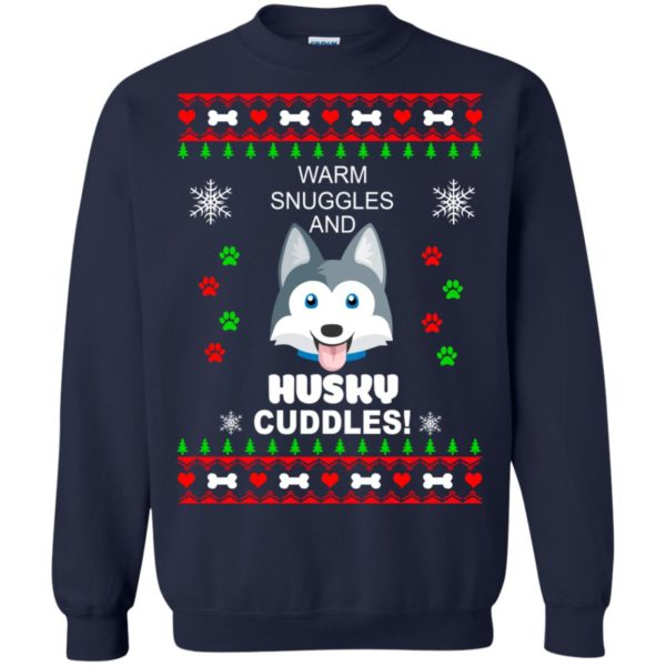 image 1946 600x600 - Warm snuggles and Husky cuddles Christmas sweater