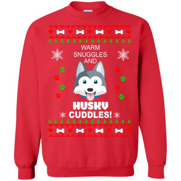 image 1947 600x600 - Warm snuggles and Husky cuddles Christmas sweater