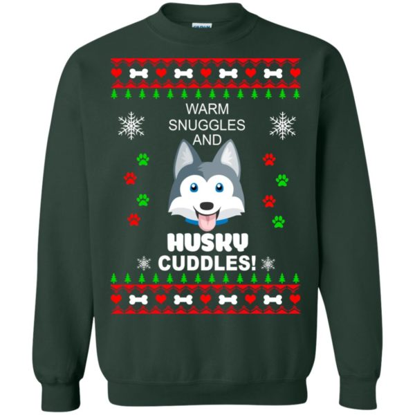 image 1948 600x600 - Warm snuggles and Husky cuddles Christmas sweater