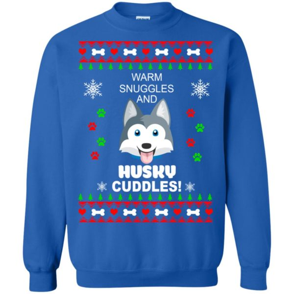 image 1949 600x600 - Warm snuggles and Husky cuddles Christmas sweater