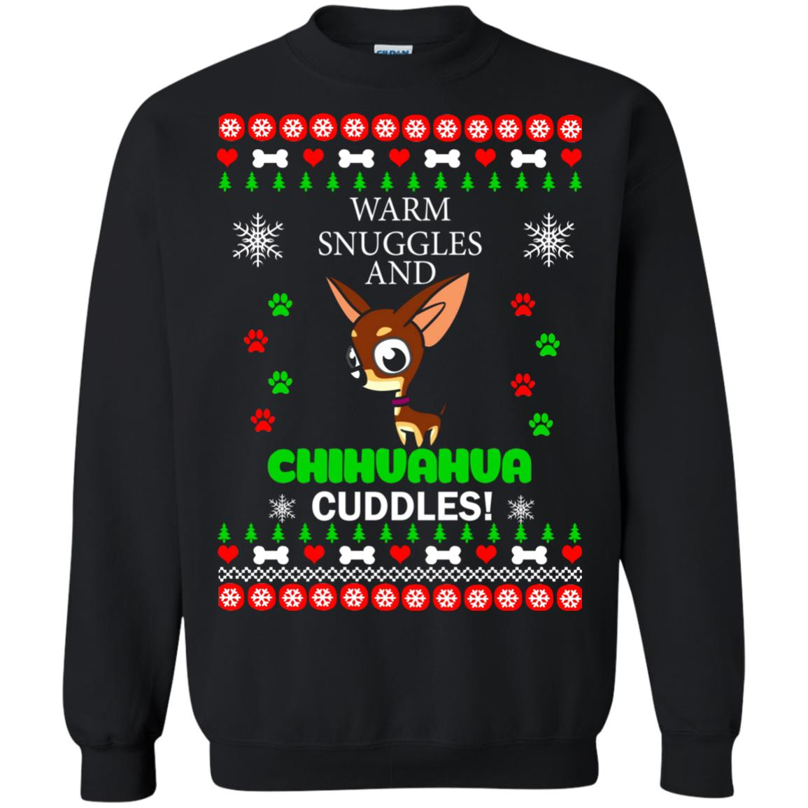 image 1957 - Warm snuggles and Chihuahua cuddles Christmas sweater