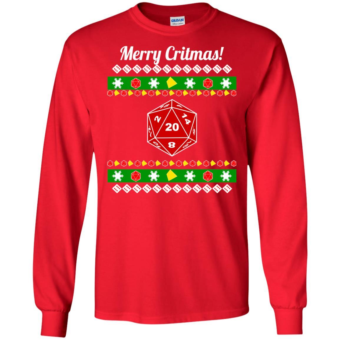 image 2205 - Merry Critmas Christmas ugly Sweatshirts, Long Sleeve