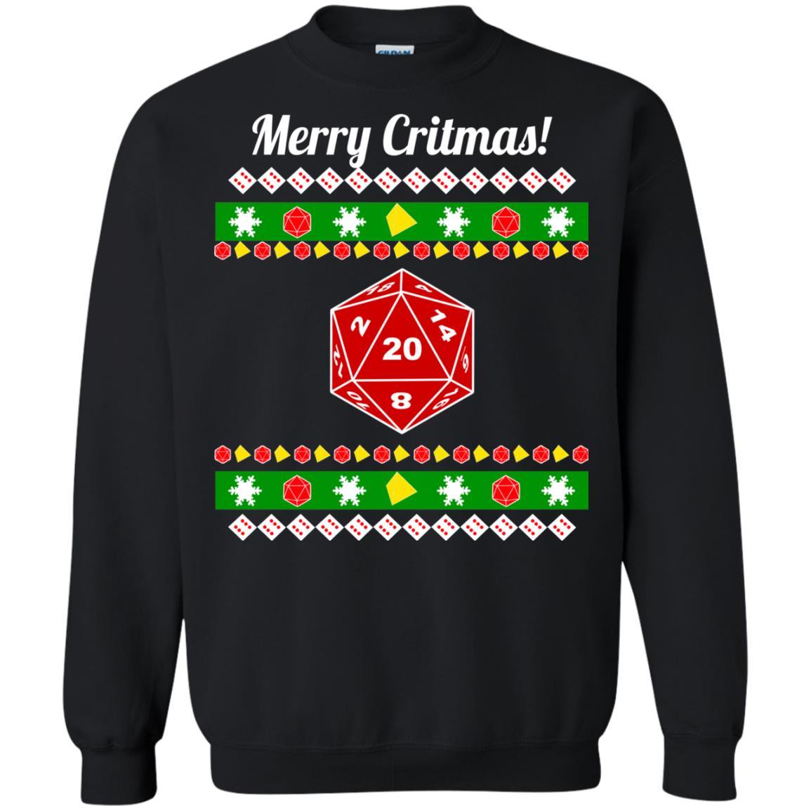 image 2209 - Merry Critmas Christmas ugly Sweatshirts, Long Sleeve