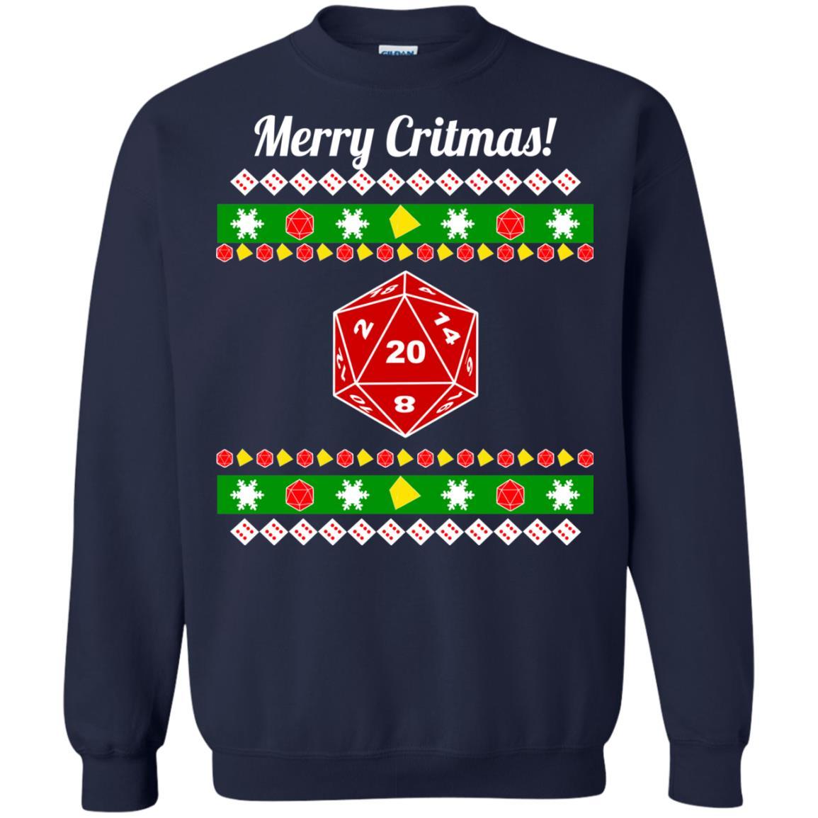 image 2210 - Merry Critmas Christmas ugly Sweatshirts, Long Sleeve