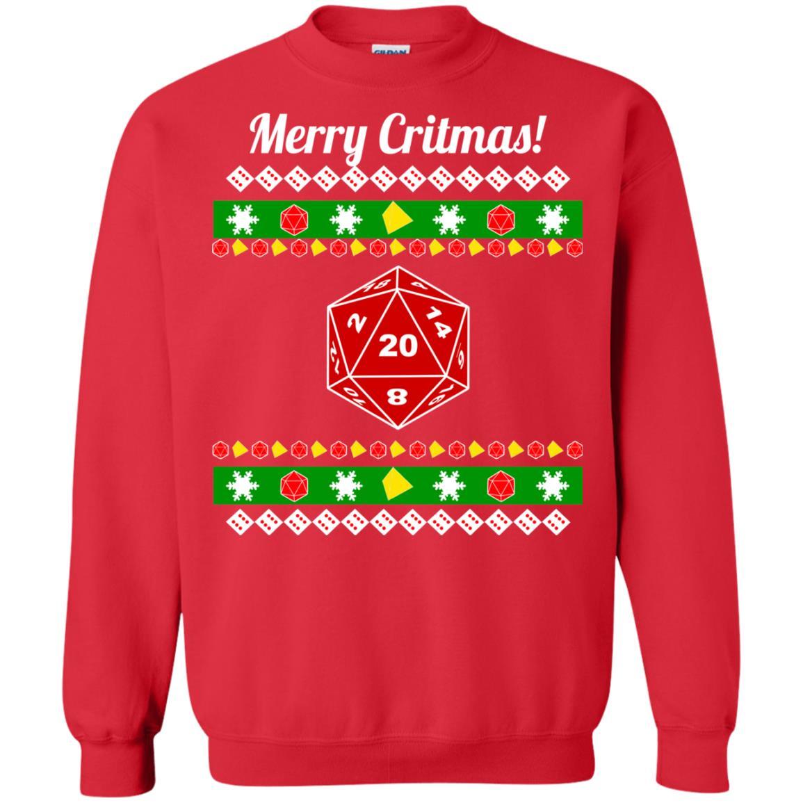 image 2211 - Merry Critmas Christmas ugly Sweatshirts, Long Sleeve