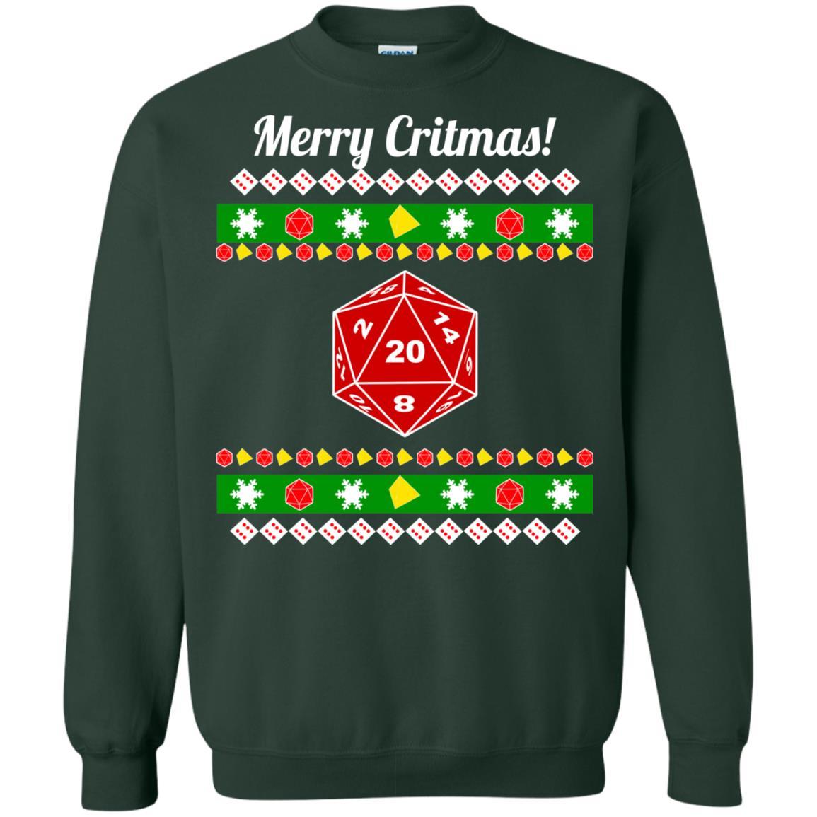 image 2212 - Merry Critmas Christmas ugly Sweatshirts, Long Sleeve