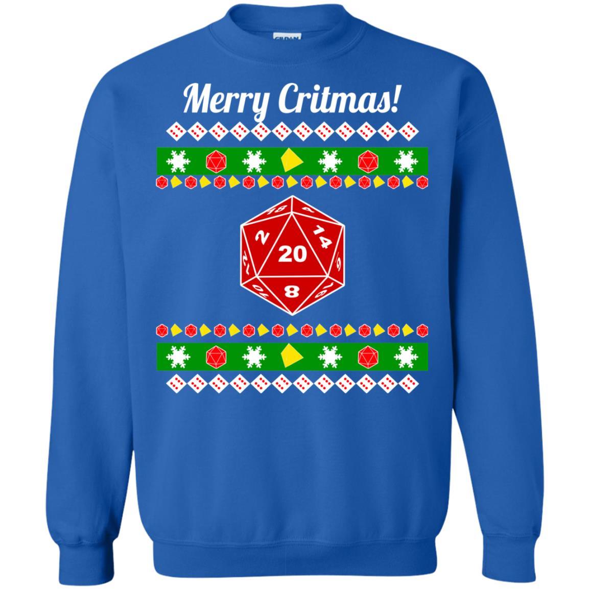 image 2213 - Merry Critmas Christmas ugly Sweatshirts, Long Sleeve