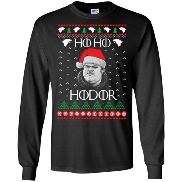 image 2335 600x600 - Ugly Christmas Sweater GOT HO HO HODOR Sweatshirts, Hoodie