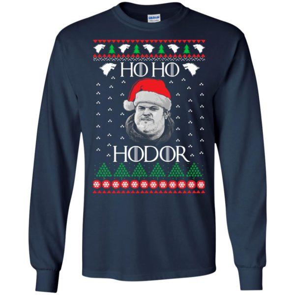 image 2336 600x600 - Ugly Christmas Sweater GOT HO HO HODOR Sweatshirts, Hoodie