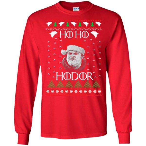 image 2337 600x600 - Ugly Christmas Sweater GOT HO HO HODOR Sweatshirts, Hoodie