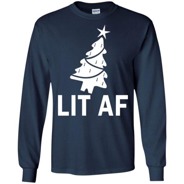 image 2360 600x600 - LIT AF Christmas Ugly Sweatshirt, Long Sleeve
