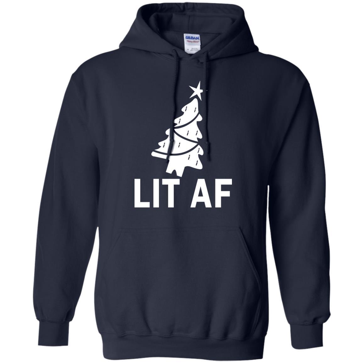 image 2363 - LIT AF Christmas Ugly Sweatshirt, Long Sleeve