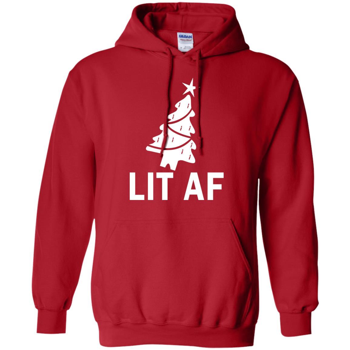 image 2364 - LIT AF Christmas Ugly Sweatshirt, Long Sleeve
