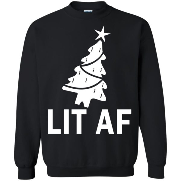 image 2365 600x600 - LIT AF Christmas Ugly Sweatshirt, Long Sleeve