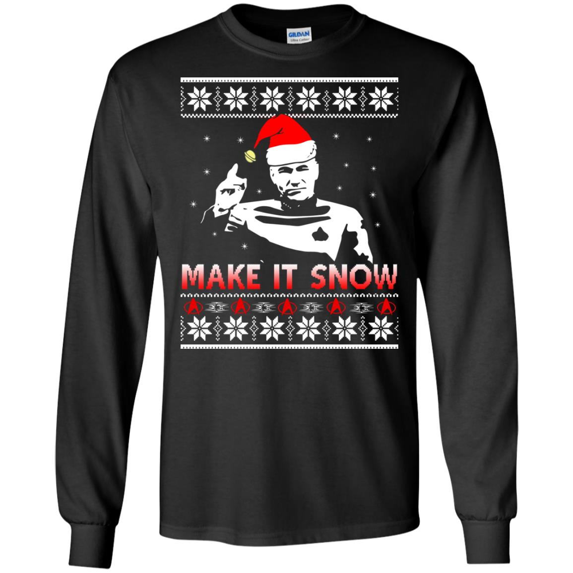 image 2407 - Star Trek make it snow Christmas Sweater, Shirt