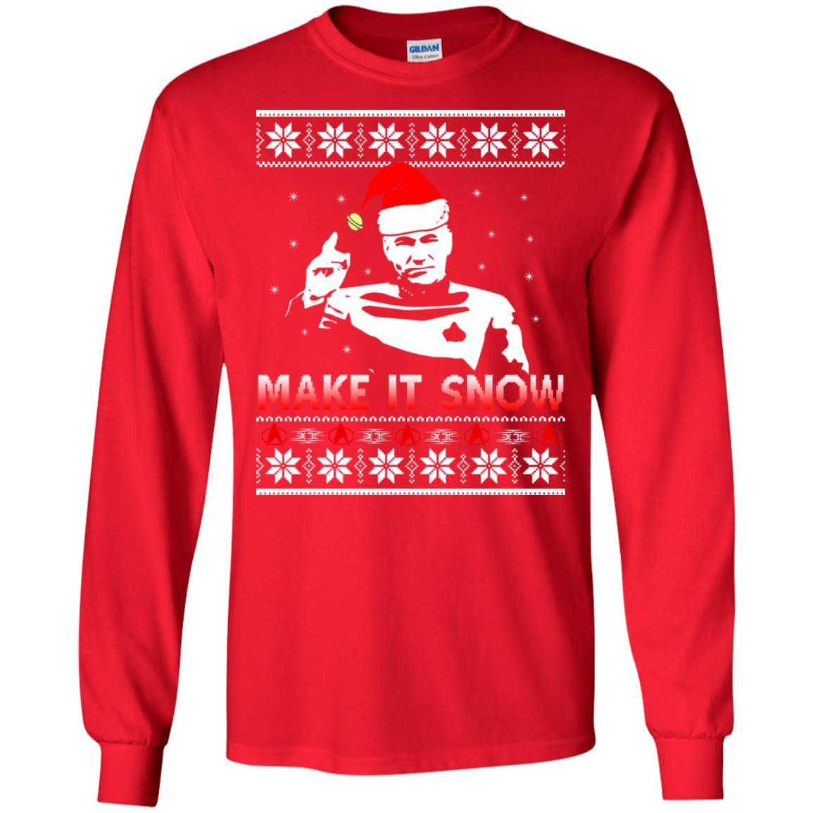 image 2409 - Star Trek make it snow Christmas Sweater, Shirt