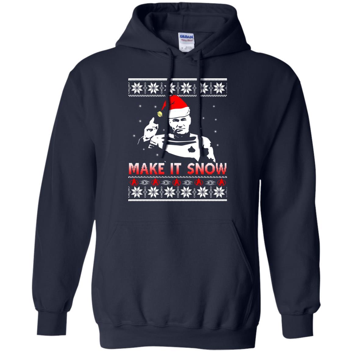 image 2411 - Star Trek make it snow Christmas Sweater, Shirt