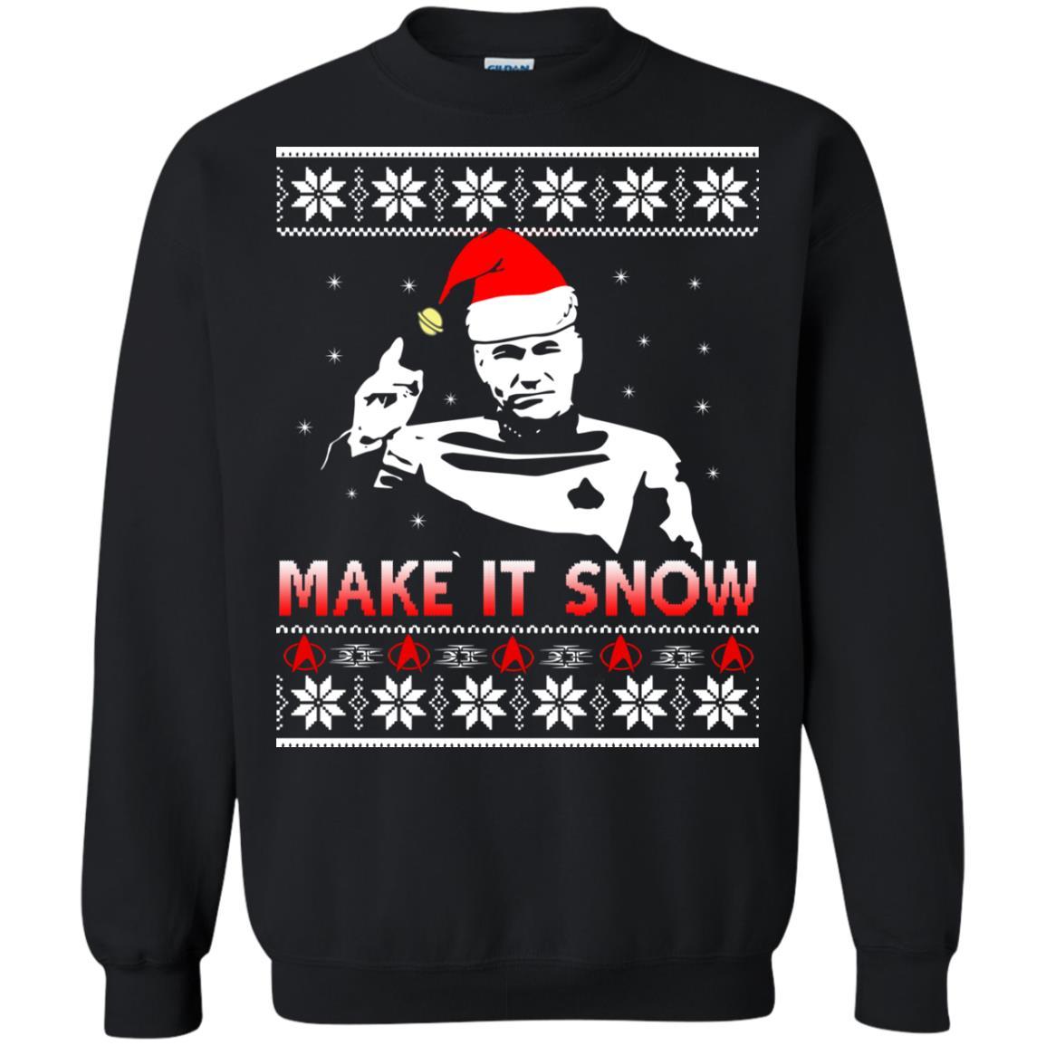 image 2413 - Star Trek make it snow Christmas Sweater, Shirt