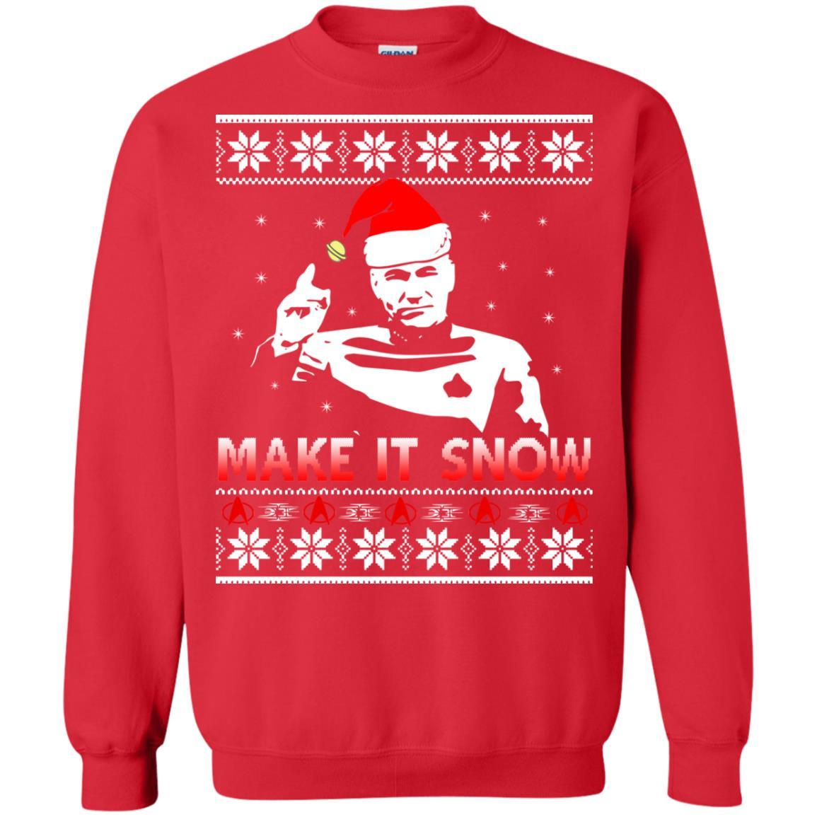 image 2415 - Star Trek make it snow Christmas Sweater, Shirt