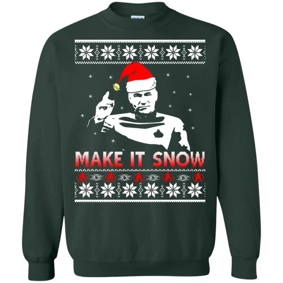 image 2416 - Star Trek make it snow Christmas Sweater, Shirt