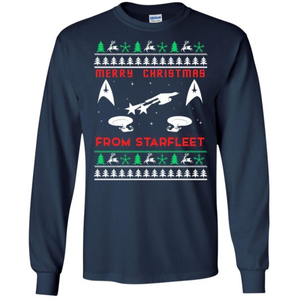 image 2444 600x600 - Star Trek: Merry Christmas From Starfleet Ugly Sweater, Christmas Sweater