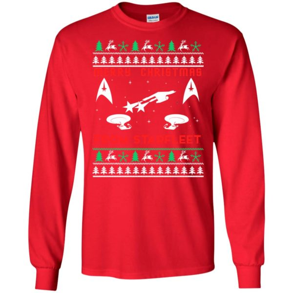 image 2445 600x600 - Star Trek: Merry Christmas From Starfleet Ugly Sweater, Christmas Sweater