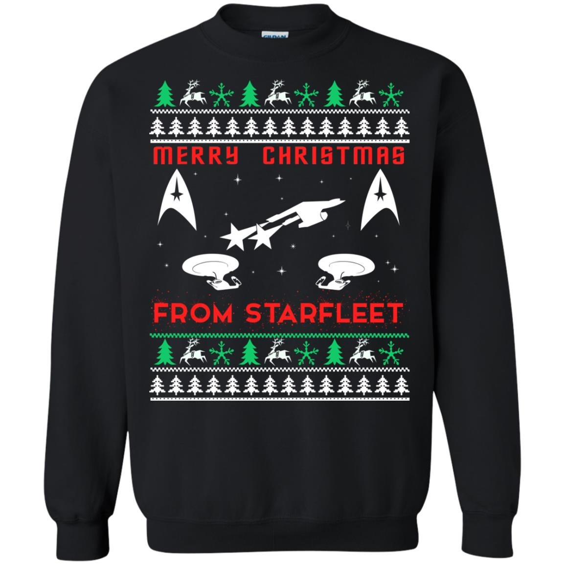 image 2449 - Star Trek: Merry Christmas From Starfleet Ugly Sweater, Christmas Sweater