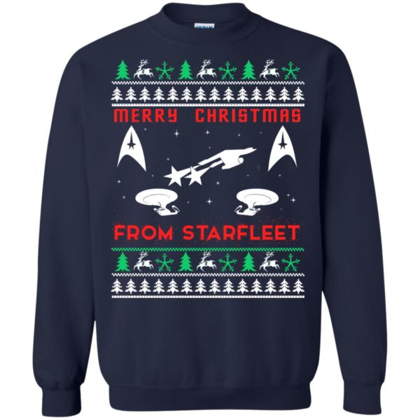 image 2450 600x600 - Star Trek: Merry Christmas From Starfleet Ugly Sweater, Christmas Sweater