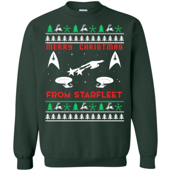image 2452 600x600 - Star Trek: Merry Christmas From Starfleet Ugly Sweater, Christmas Sweater