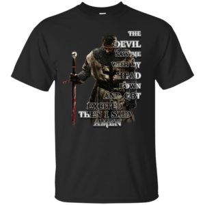 image 315 300x300 - The devil saw me with my head down and got excited then I said Amen shirt, hoodie, long sleve