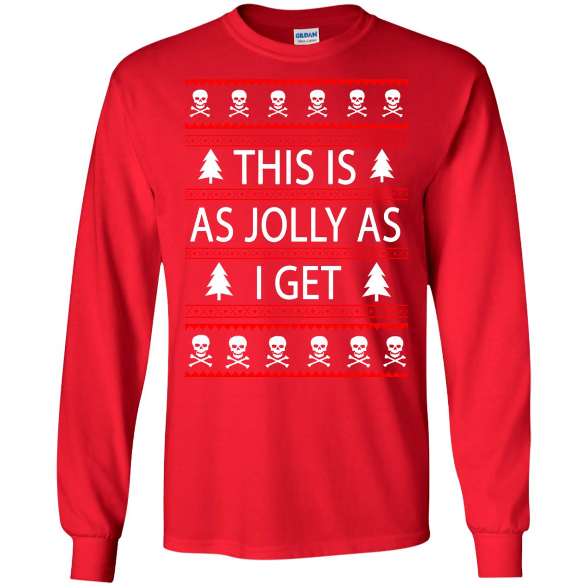 image 3161 - This Is as Jolly as I Get Emo Gothic Christmas Sweatshirts, Hoodie