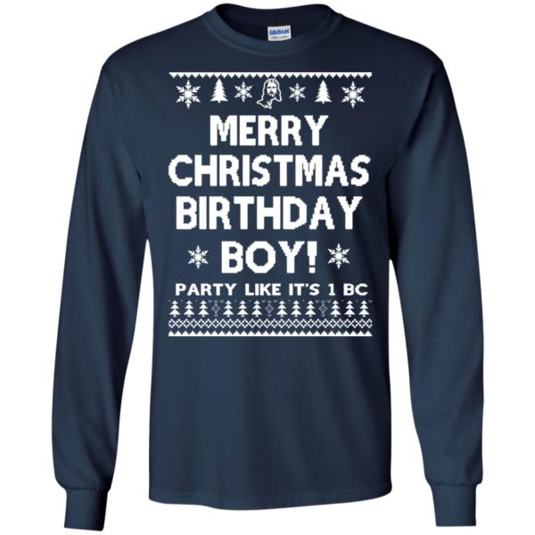 image 3172 600x600 - Jesus Merry Christmas Birthday Boy Sweater, Hoodie, Long Sleeve