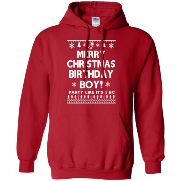 image 3176 600x600 - Jesus Merry Christmas Birthday Boy Sweater, Hoodie, Long Sleeve