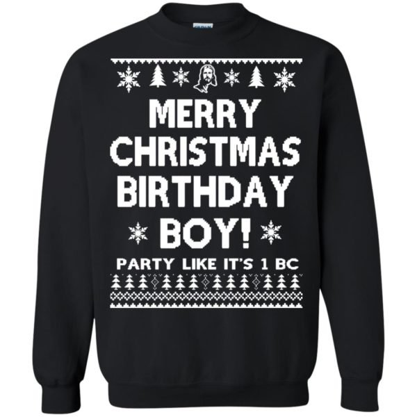 image 3177 600x600 - Jesus Merry Christmas Birthday Boy Sweater, Hoodie, Long Sleeve