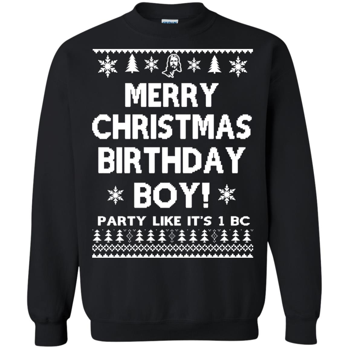 image 3177 - Jesus Merry Christmas Birthday Boy Sweater, Hoodie, Long Sleeve