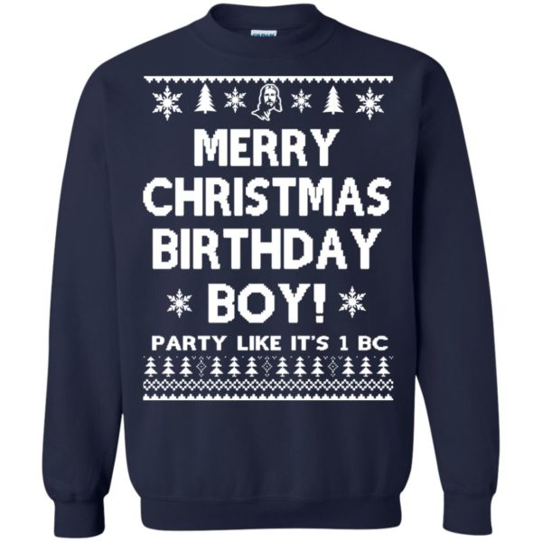 image 3178 600x600 - Jesus Merry Christmas Birthday Boy Sweater, Hoodie, Long Sleeve