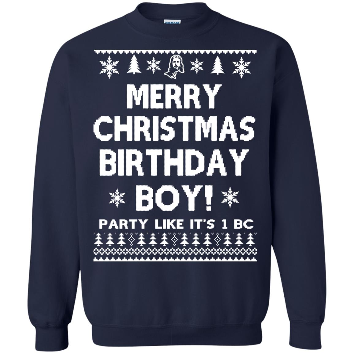 image 3178 - Jesus Merry Christmas Birthday Boy Sweater, Hoodie, Long Sleeve