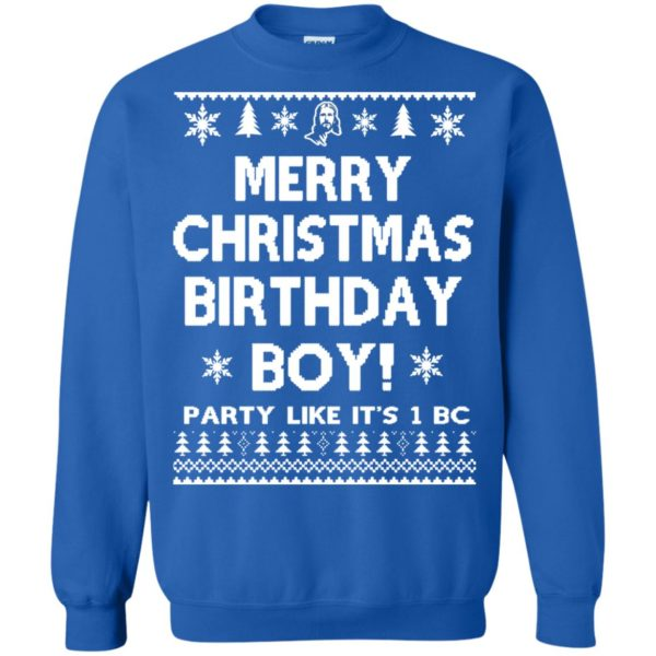image 3181 600x600 - Jesus Merry Christmas Birthday Boy Sweater, Hoodie, Long Sleeve